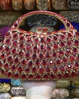 Vintage Crystal Diamond Party Handbag Banquet Purse