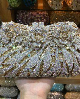 Vintage Diamonds Rhinestones Clutch Handbag Coin Purse