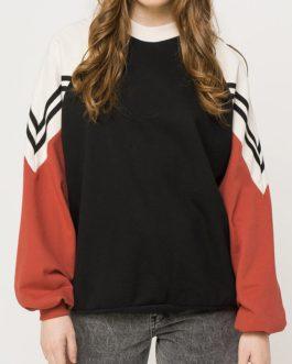 Casual High Neck Long Raglan Sleeves Sweatshirts