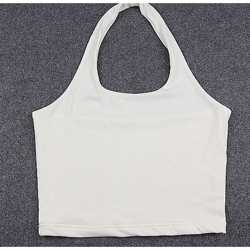 Sexy sleeveless crop Slim tops11