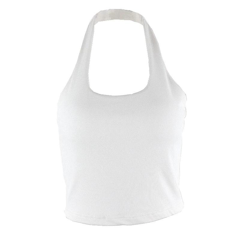 Sexy sleeveless crop Slim tops7