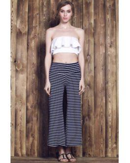 Stripe Wide Leg Yoga Pants