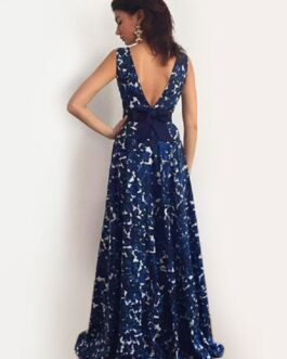 Maxi Dress Floral Print Sleeveless Floor Length Party Dress