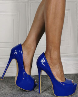 High Heel Patent PU Stiletto Sexy Plus Size Shoes