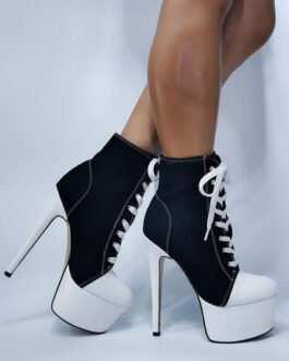 Round Toe Stiletto Heel High Boots Sexy Plus Size Shoes