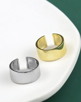 Cylindrical Wide Flat Fashion Eelegant Handmade Ring