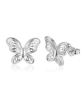 Fashion Hollow Small Butterfly Earrings