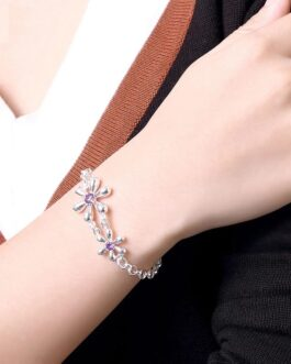 Flowers Crystal Bracelets Chain Jewelry