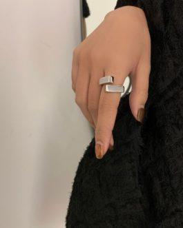 Geometric Glossy Trend Luxury Classic Cross Ring