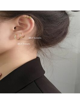 Round Circle Hoop Earrings Fashion Elegant Handmade