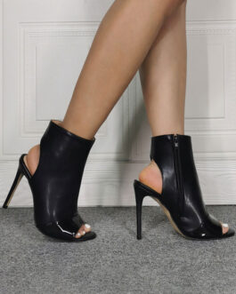 Sandal Peep Toe Stiletto Slingbacks Ankle Boots