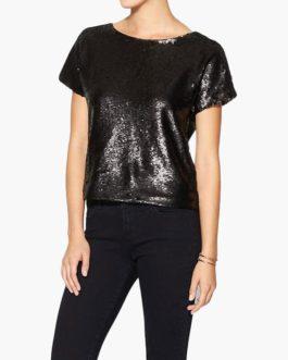 Sequin Top Short Sleeve T Shirt