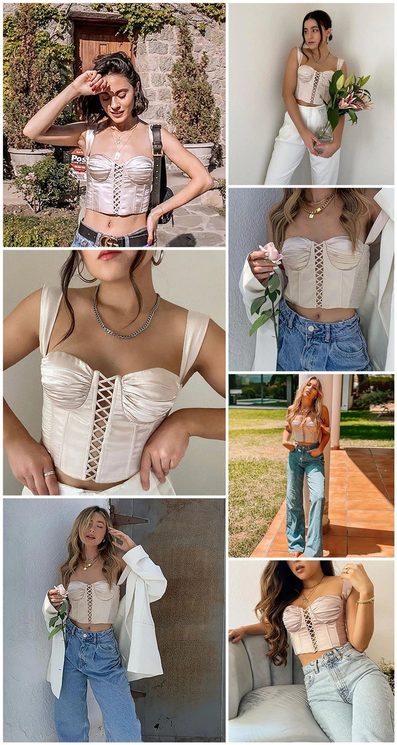 Sexy Sleeveless Slim Solid Hollow Out Crop Top 3
