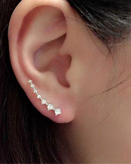 7 Rhinestones Stud Earrings