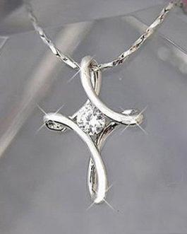 925 Sterling Silver Rhinestone Pendant