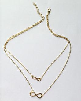 Chain Lace Double Infinity Shape Pendant