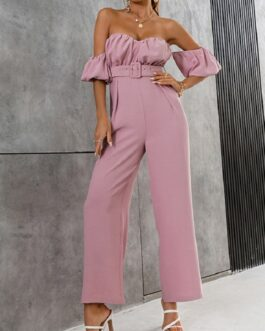Chic Pure Off Shoulder Jumpsuit Elegant