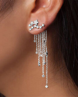 Constellation Earrings with Dangle Chains