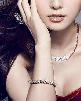 Copper Plated Platinum Backing Clustered Diamond Set Bracelet