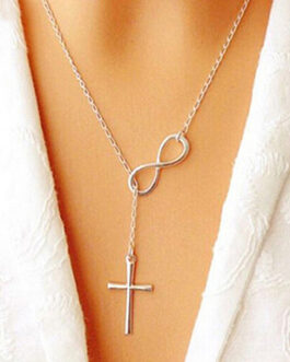 Cross Infinity Pendant Chain Party Necklace