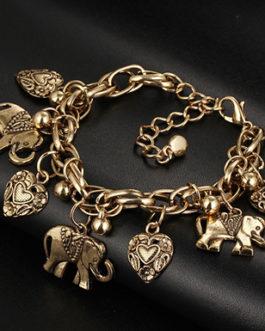 East Indian Themed Antique Gold Love Bracelet