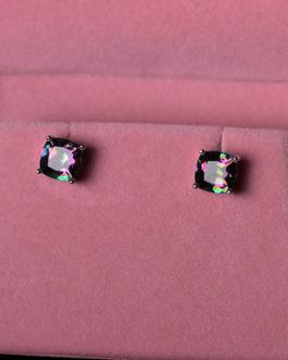 Emerald Cut Crystal Rhinestone Studs