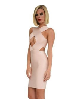 Hollow Out Sleeveless Club Outfits Vestidos Celebrity Runway Party Dresses