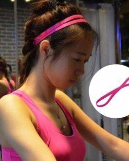1 PC Yoga Hair Bands Sports Anti-slip Elastic Rubber