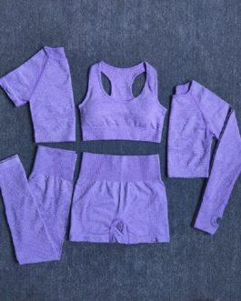 5Pcs Yoga Workout Sportswear Set