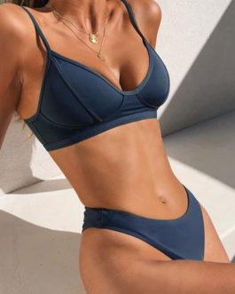 Bikini Swimsuit Straps Neck Beach Swimwear