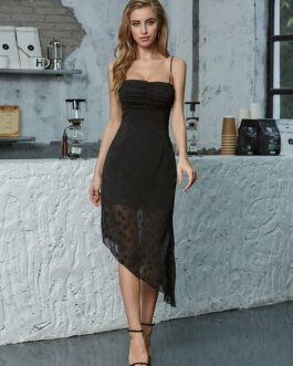 Bodycon Sleeveless Straps Neck Casual Slim Fit Sheath Dress
