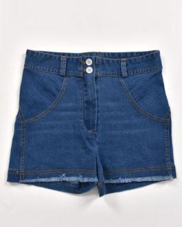 Denim Buttons Cowboy Natural Waist Skinny Shorts