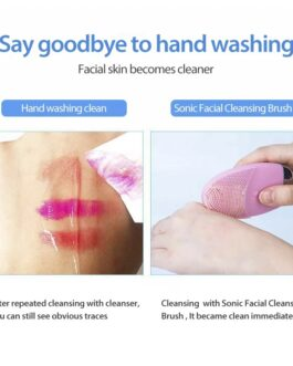 Electric Silicone Sonic Facial Deep Cleaning Brushes