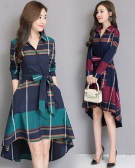 Elegant Lady Office Long Sleeve Dress