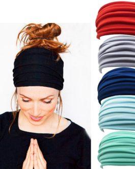 Fashion Nonslip Elastic Folds Yoga Hairband
