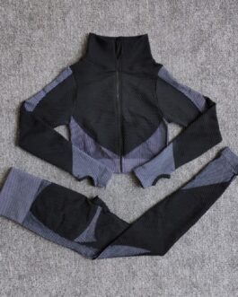 Long Sleeve Yoga Sport Gym Suits