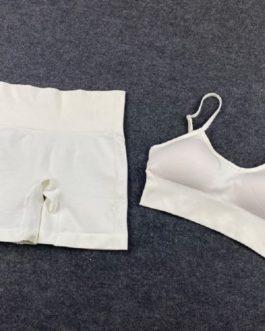 Seamless Workout Sport Short Bra Yoga Set