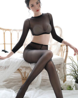 Sexy Transparente Nylon Lace Slim Fit Bodystocking Lingerie