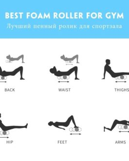 Yoga Exercise Back Muscle Massage Fitness Foam Roller