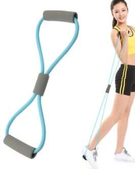 Yoga Gym Fitness Resistance 8 Word Chest Expander Rope