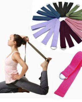Yoga Stretch Strap D-Ring Buckle Belts Rope