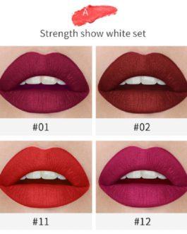 4pcs Cigarette Shape Waterproof Matte Long-lasting Lipstick