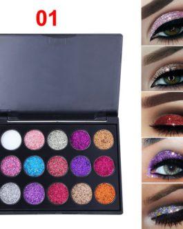 Natural Waterproof Glitter Eyeshadow Palette