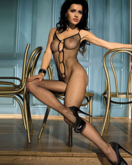 Sexy Halter Crotchless Net Sheer Body Stocking
