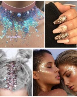 Shining Sequined Colorful Face Eyes Lip Body Glitter