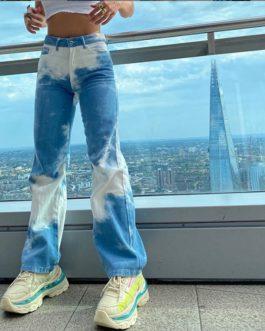 Fashion Vintage Wide Leg Straight Jeans