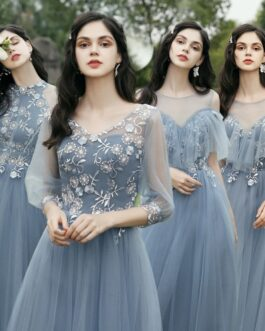 Mixed and Mismatched Fall Long Formal Prom Party Bridesmaid Dress