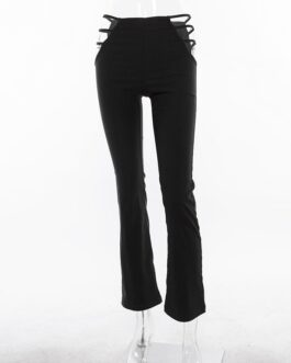 Sexy Cut Out Slim Fitness Streetwear Pants